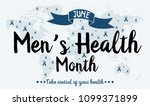 men's health month card or... | Shutterstock .eps vector #1099371899