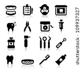 dental icons | Shutterstock .eps vector #109937327