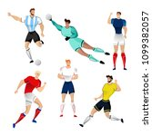 football players from france ... | Shutterstock .eps vector #1099382057