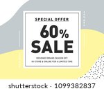 60  off special offer sale.... | Shutterstock .eps vector #1099382837