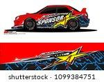 rally car vector livery....   Shutterstock .eps vector #1099384751