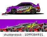 rally car vector livery....   Shutterstock .eps vector #1099384931