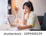 happy young asian woman fashion ...   Shutterstock . vector #1099400159