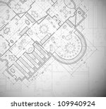 detailed architectural plan.... | Shutterstock .eps vector #109940924