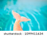 mermaid sequin tail with... | Shutterstock . vector #1099411634