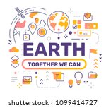 earth satellite color concept... | Shutterstock .eps vector #1099414727