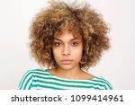 close up portrait of serious... | Shutterstock . vector #1099414961