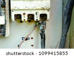 Small photo of Heat accumulation in power transmission lines. Insulate, fire , over current