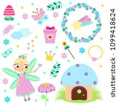 forest fairy set. collection of ... | Shutterstock .eps vector #1099418624