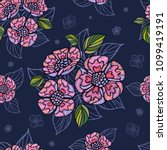embroidery seamless pattern... | Shutterstock .eps vector #1099419191