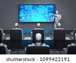 3d rendering cyborg teaching in ... | Shutterstock . vector #1099422191