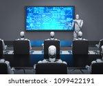 3d rendering cyborg teaching in ... | Shutterstock . vector #1099422191