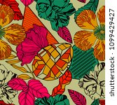 beautiful vector pattern with... | Shutterstock .eps vector #1099429427