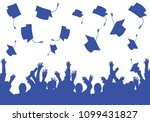 graduation day students happy... | Shutterstock .eps vector #1099431827