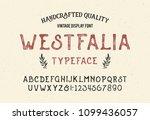 original handmade alphabet.... | Shutterstock .eps vector #1099436057