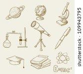 vector illustration of objects...   Shutterstock .eps vector #109943795