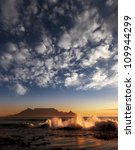 table mountain with clouds ... | Shutterstock . vector #109944299