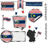 vector glossy icons of flag of... | Shutterstock .eps vector #1099443479