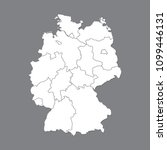 blank map germany. high quality ... | Shutterstock .eps vector #1099446131
