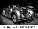 Small photo of BERLIN - MAY 06, 2018: Rare car Lagonda V12 Drophead Coupe, 1938. Exhibition 31. Oldtimertage Berlin-Brandenburg (31th Berlin-Brandenburg Oldtimer Day).