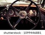 Small photo of BERLIN - MAY 06, 2018: Interior of a rare car Lagonda V12 Drophead Coupe, 1938. Toning. Stylization. Exhibition 31. Oldtimertage Berlin-Brandenburg (31th Berlin-Brandenburg Oldtimer Day).