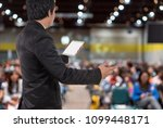 rear view of business people... | Shutterstock . vector #1099448171