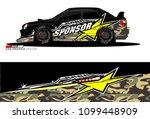 rally car vector livery.... | Shutterstock .eps vector #1099448909