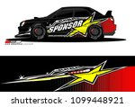 rally car vector livery.... | Shutterstock .eps vector #1099448921