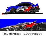rally car vector livery.... | Shutterstock .eps vector #1099448939