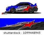 rally car vector livery.... | Shutterstock .eps vector #1099448945