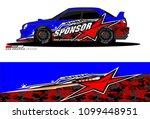 rally car vector livery.... | Shutterstock .eps vector #1099448951
