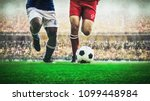 two soccer football player... | Shutterstock . vector #1099448984