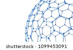 blue network connections with...   Shutterstock . vector #1099453091