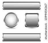 grey glass buttons with chrome ...   Shutterstock .eps vector #1099454267
