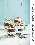 Small photo of Red Velvet trifle dessert