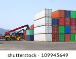 containers and stackers | Shutterstock . vector #109945649