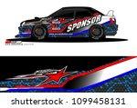 rally car vector livery.... | Shutterstock .eps vector #1099458131