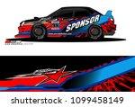 rally car vector livery.... | Shutterstock .eps vector #1099458149