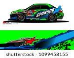 rally car vector livery.... | Shutterstock .eps vector #1099458155