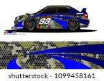 rally car vector livery.... | Shutterstock .eps vector #1099458161