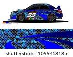 rally car vector livery.... | Shutterstock .eps vector #1099458185