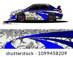 rally car vector livery.... | Shutterstock .eps vector #1099458209