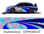 rally car vector livery.... | Shutterstock .eps vector #1099458215