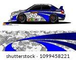 rally car vector livery.... | Shutterstock .eps vector #1099458221