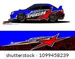 rally car vector livery.... | Shutterstock .eps vector #1099458239