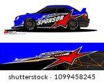 rally car vector livery.... | Shutterstock .eps vector #1099458245