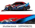 rally car vector livery.... | Shutterstock .eps vector #1099458251