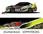 rally car vector livery.... | Shutterstock .eps vector #1099458281