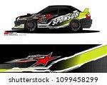 rally car vector livery.... | Shutterstock .eps vector #1099458299