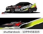 rally car vector livery.... | Shutterstock .eps vector #1099458305